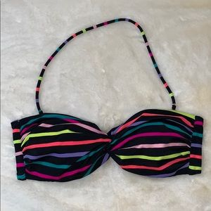 Victoria's Secret neon strip bandeau bikini top